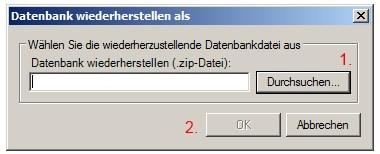 Backup einspielen 3