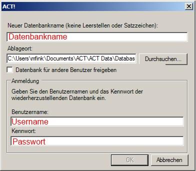 Datenbank einspielen 4