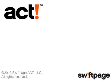 Act! startscreen